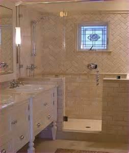 Bathroom Lighting Layout - herringbone subway tile floor home design ideas