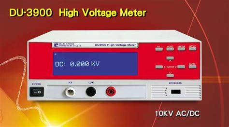 Voltmeter Dc 2310 du 3900 high voltage meter