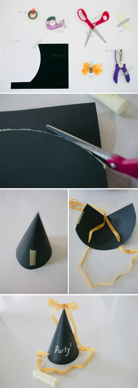 How To Make Birthday Hats Out Of Paper - chalk board hat a subtle revelry