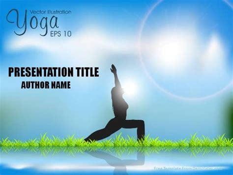 template powerpoint yoga free sunrise yoga powerpoint template demplates