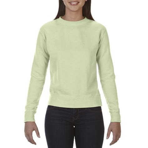 comfort colors celadon cc1596 comfort colors ladies crewneck sweatshirt celadon