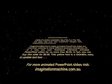 Star Wars Crawl Powerpoint Opening Crawl Animated Powerpoint Slide Youtube Free Fitfloptw Info Wars Crawl Powerpoint