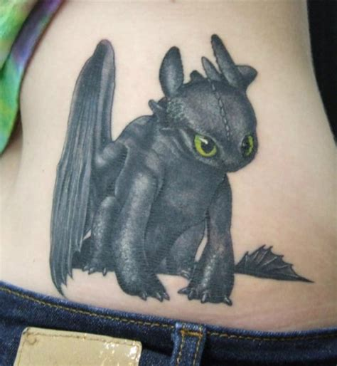 fyeahtattoos com toothless from how to train your dragon