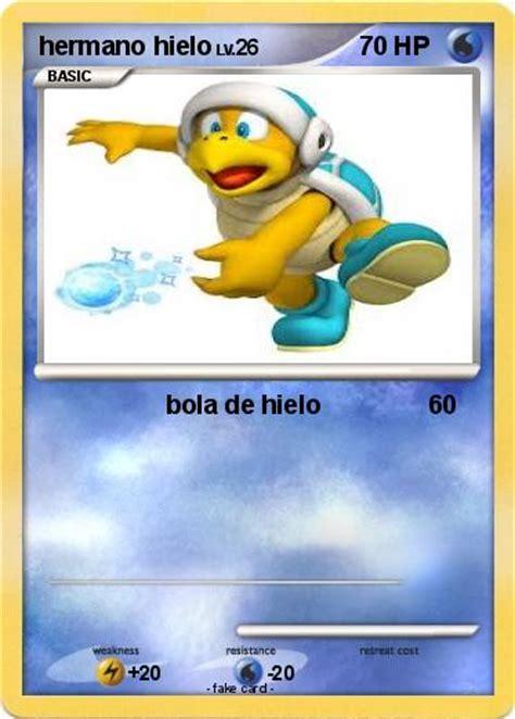 hermano de hielo pok 233 mon hermano hielo bola de hielo my pokemon card