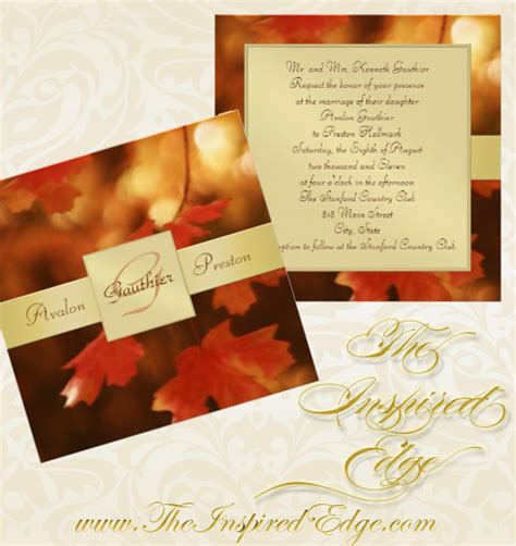 Leaf Themed Wedding Invitations by Fall Leaf Wedding Invitations Archives Wedding