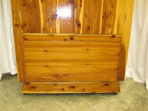 cedar armoire wardrobe nice 1950 s or 1960 s cedar armoire wardrobe on casters for sale antiques com