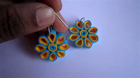 Paper Earrings Handmade Paper Jewellery - handmade jewelry paper quilling earrings dimond shape