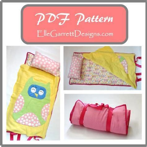 Sewing Pattern With Nap | owl nap mat by ellegarrettdesigns sewing pattern