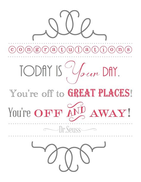 Printable Graduation Quotes | blissful roots dr seuss graduation printable