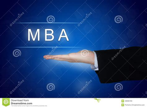 Masters In Pr Or Mba by Mba Or Master Of Business Administration Button On Blue