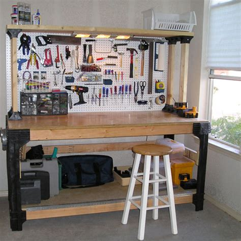 workshop work bench expand your shelving and storage with six included