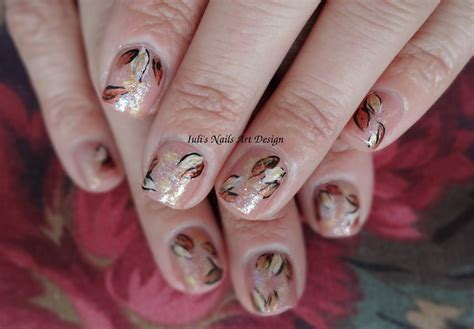 easy nail art leaf golden fall leaves easy and simple nail art design