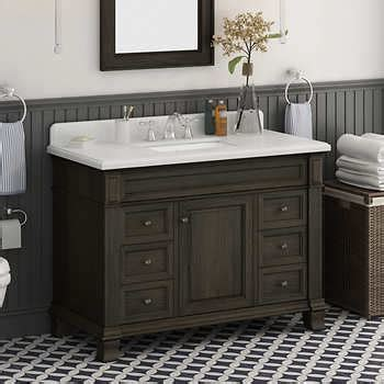 48 single sink vanity with backsplash single sink vanities costco