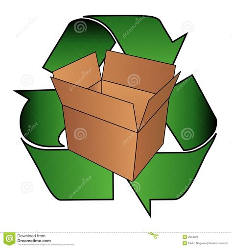 Online 3d Building Design cardboard box recycle symbol royalty free stock image