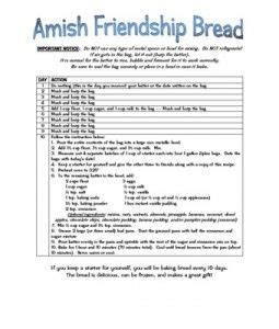 printable directions for amish friendship bread amish friendship bread looks good pinterest amish