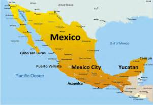mexico map showing attractions accommodation