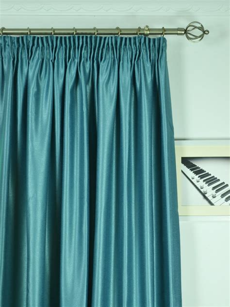 Curtains 100 Length Wide Swan Gray And Blue Solid Pencil Pleat Curtains 100 120 Inch Width