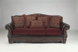 Leather Sofa World Reviews Raul Sofa Traditional World Burgundy Living Room Fabric Faux Leather Wood Ebay