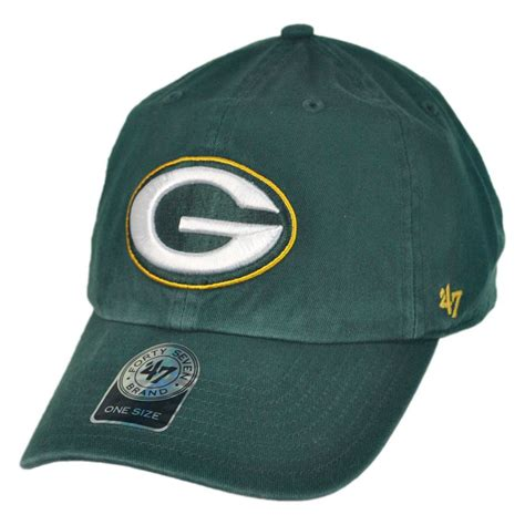 green bay packers light up hat 47 brand green bay packers nfl clean up strapback baseball