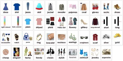 clothing vocabulary fashion clothes