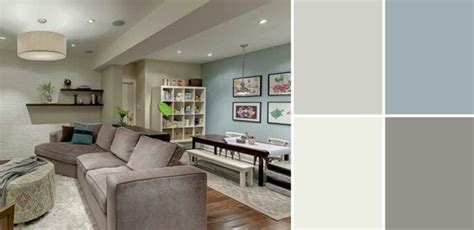 basement color schemes accent walls this and color schemes on