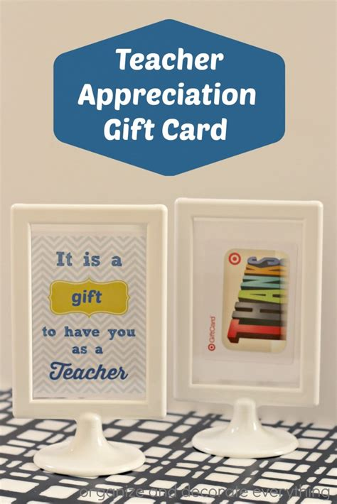 what is printable gift cards teacher appreciation printable and gift card idea
