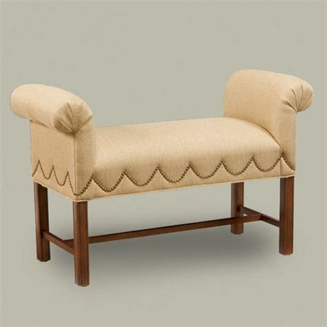traditional bedroom benches loren bench traditional upholstered benches by ethan