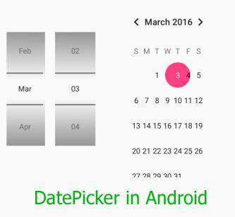 Android studio datepicker get date