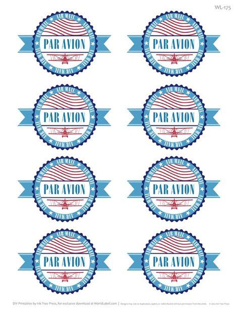 Par Avion Par E Mail par avion international address mailing label set