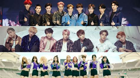 exo and twice watch exo bts twice and more perform at korean music