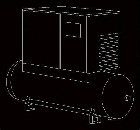 air compressor package type  autocad cad  kb bibliocad