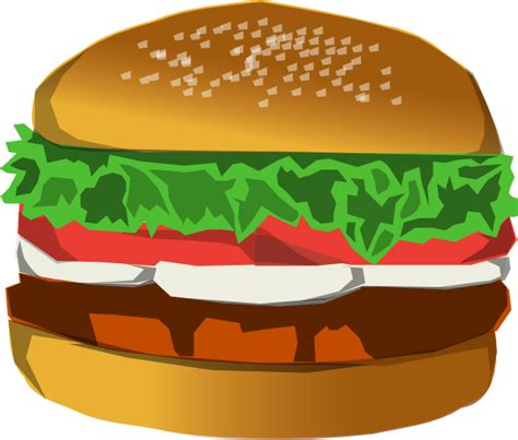 hamburger clipart burger clip at clker vector clip
