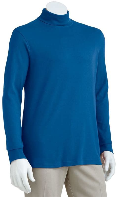 light blue turtleneck mens croft barrow easy care interlock turtleneck big tall