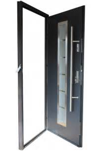 Exterior Metal Doors With Glass Quot Madrid Quot Stainless Steel Entry Door With Glass