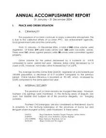 Certification Letter Of Accomplishment Accomplishment Report Format Helloalive