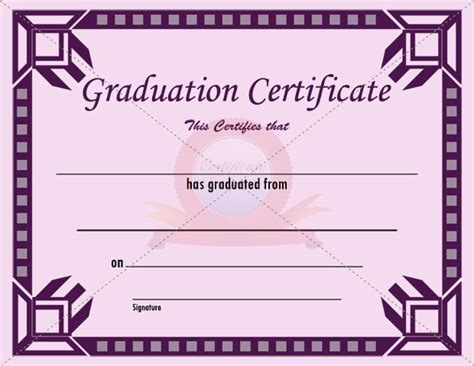 templates for graduation certificates graduation certificate template new vision