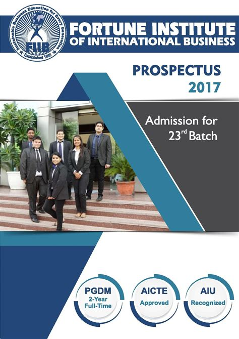 Is Fiib Is A Mba College by Fortune Institute Of International Business Fiib New