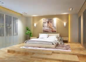 3d bedroom 3d overlooking bedroom wood wall and wooden flooring