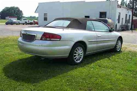 2001 Chrysler Sebring Convertible For Sale by Purchase Used 2001 Chrysler Sebring Convertible Needs