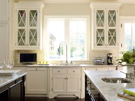 white glass kitchen cabinets glass front kitchen cabinets transitional kitchen