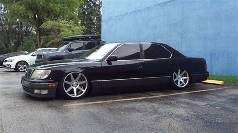 bagged ls400 bagged on airrex 1998 lexus ls 400 x vossen cv7 walkaround