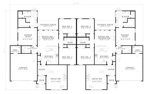 multi family apartment floor plans multi family plan 62238 floors floor plans and duplex plans
