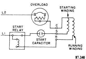 compressor wiring diagram single phase refrigeration single phase refrigeration compressor