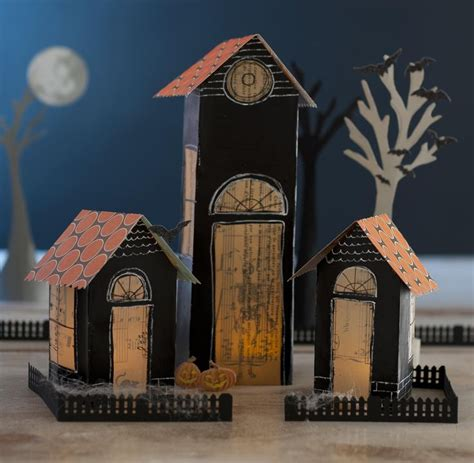 How To Make A Paper Haunted House - how to make houses out of paper