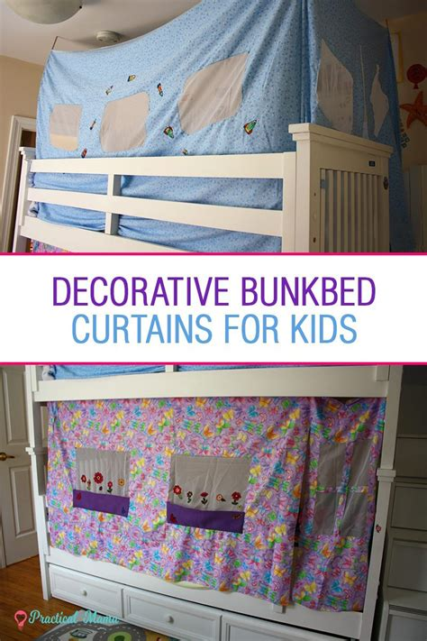 Decorative bunk bed curtains for children