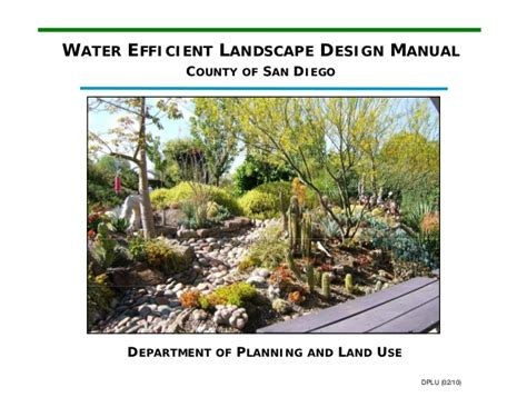 water efficient landscape design manual county of san diego