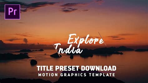 Free Titles Intros Preset For Premiere Pro Cc Motion Graphic Template Youtube Premiere Pro Intro Template