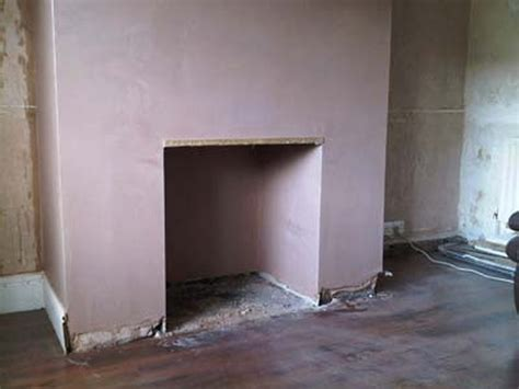 How To Fireplace by Plaster Clad Fireplace Plastering In