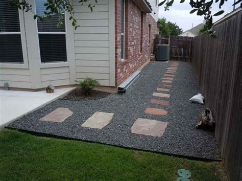 backyard landscaping with gravel ideas photograph above