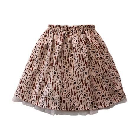 Rok Anak Skirt Import jual rumah voila tutu batik sogan kawung putih rok anak
